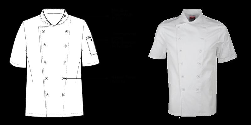 Short Sleeve Luxury Chef Jacket