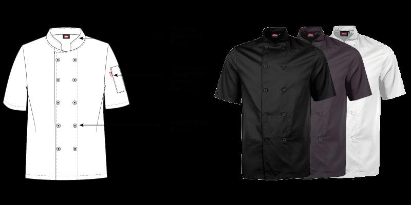 Men's Short Sleeve Chef Jacket