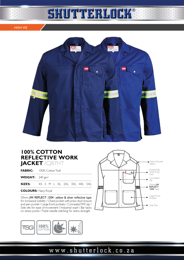 Cotton Reflective Work Jacket Page