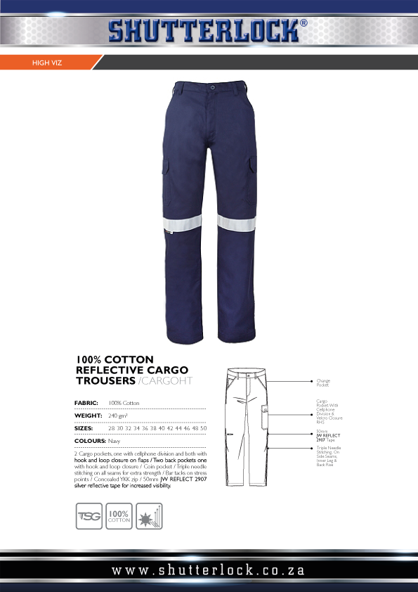 Reflective Cargo Trousers Page