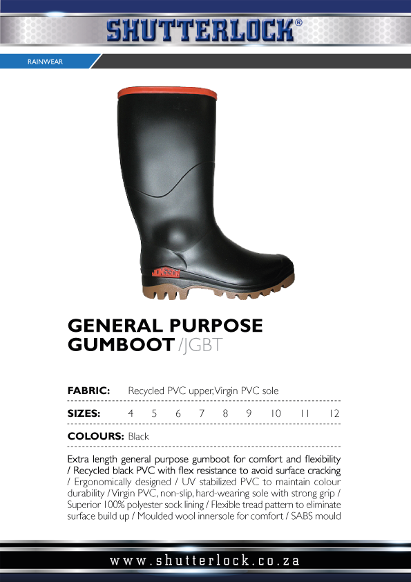 Rain Wear General Purpose Gumboots