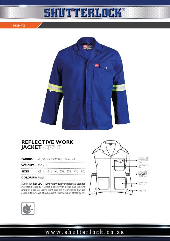 Reflective Work Jacket Page