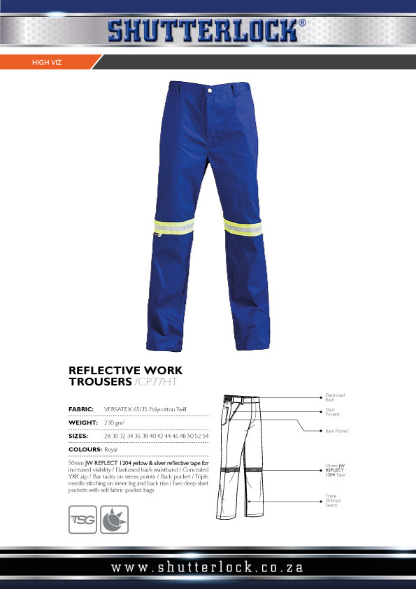 Reflective Work Trouser Page