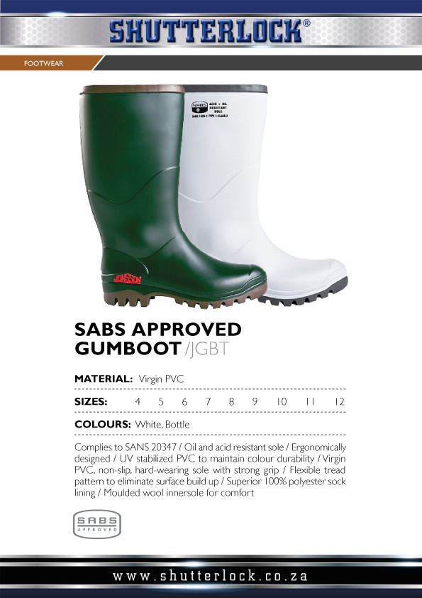 Footwear General Purpose Gumboots