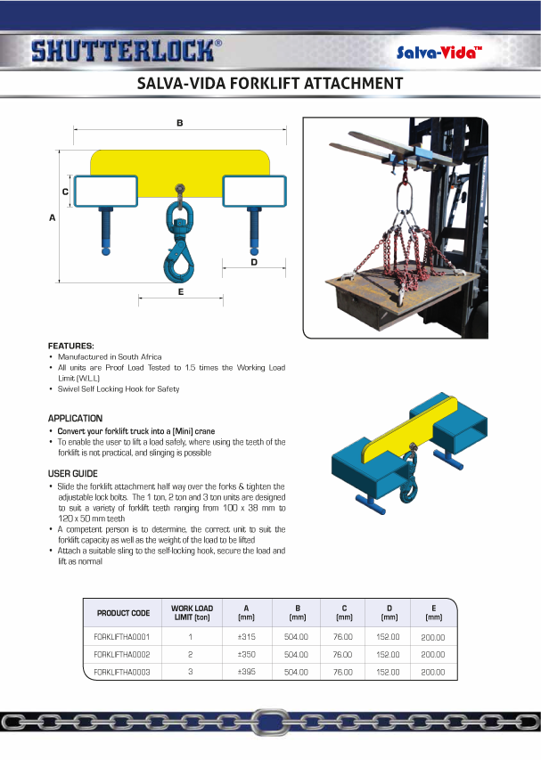 Forklift Attachment Page