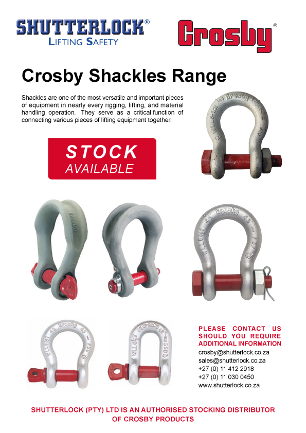 Crosby Shackles Promotion