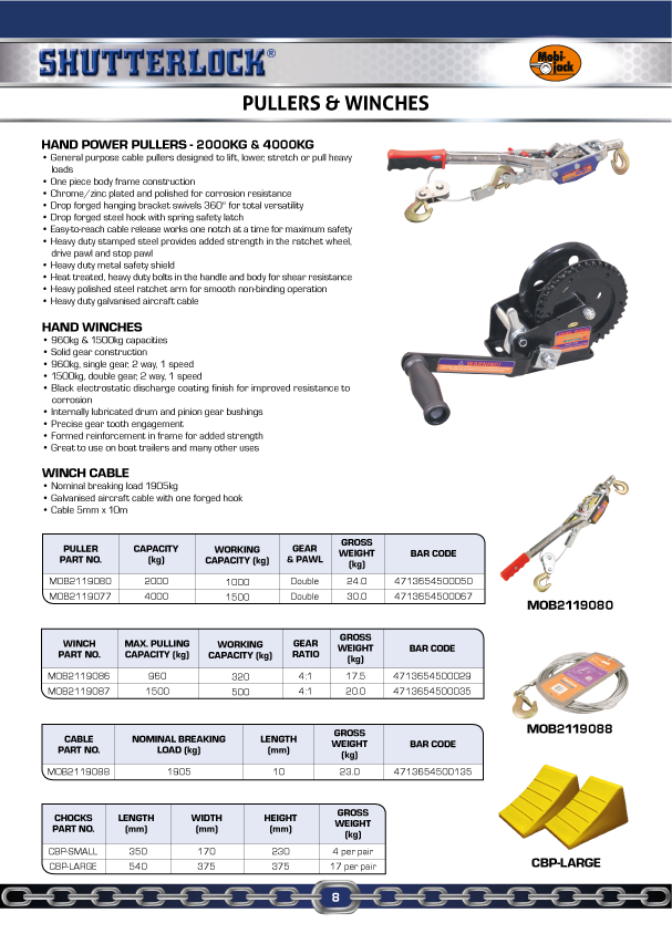 Mobi-jack Winches & Pullers Page