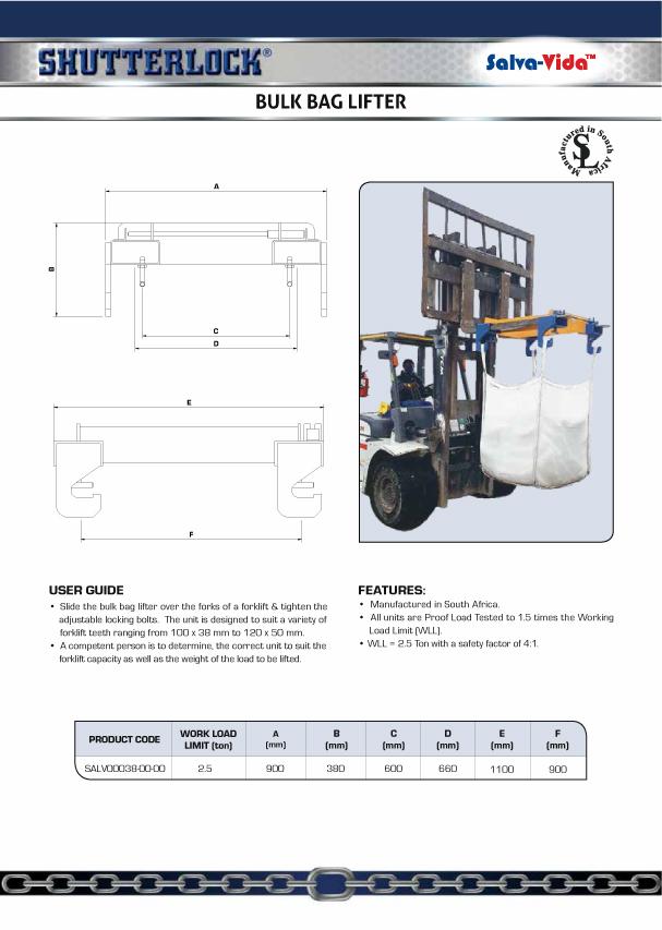Bulk Bag Lifter Product Page